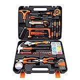 Juego de herramientas de reparación doméstica El kit de herramientas de bricolaje manual incluye: martillo, llave inglesa, alicates (kit de herramientas para el hogar, la oficina o el automóvil)