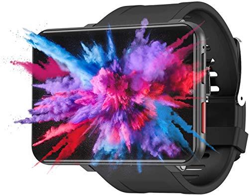 Jiatwhfhsa Hombres Mujeres Reloj Inteligente 4G Pantalla de 2.86 Pulgadas 3GB 32GB Cámara de 5MP 2700Mah Batería (Negro, 1 + 16GB) (D, 3+32GB)