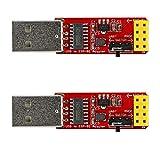 2PCS ESP-01S Programmer USB to ESP-01 Adapter ESP8266 Wireless WiFi Module Wi-Fi CH340G UART PORG, 4.5-5.5V 115200 Baud Rate