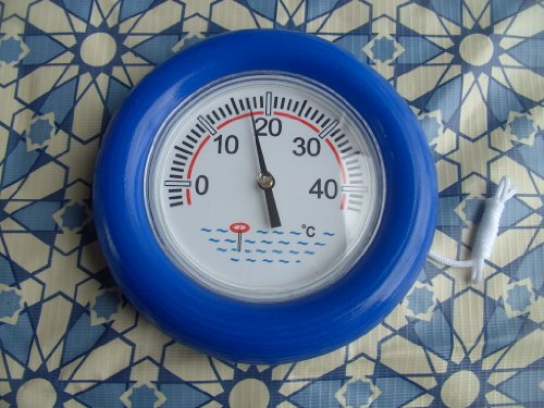 Ring Thermometer für Pool, großes Ablesefeld, 19 cm Durchmesser
