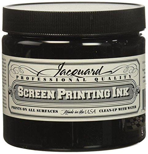 Jacquard JAC-JSI3117 Screen Printing Ink, 16 oz, Black