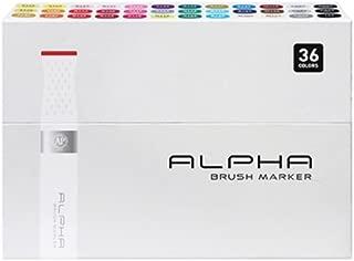 Alpha EF 36 Brush Grafikmarker 36er Brush Set Box Design Marker