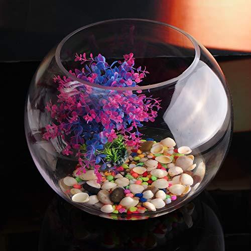 MASUNN ronde helder glas Vaas vis tank bal kom bloem Planter Terrarium Home Decor, 12cm, 1