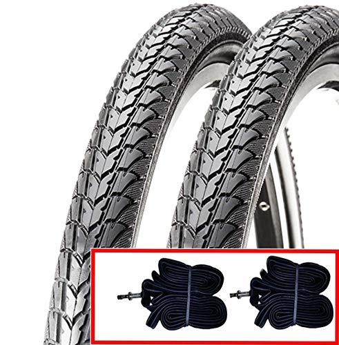 2 COPERTONI + 2 CAMERE D'ARIA NERI C-1446 (47-507) 24 X 1.75 PER BICI BICICLETTA CITY BIKE ELETTRICA E-bike Approved 25 km/h