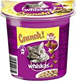 Whiskas Crunch für Katzen – Köstlicher Katzensnack mit Hühnchen-, Truthahn- und Entengeschmack – Für jede Altersklasse geeignet – 5er...