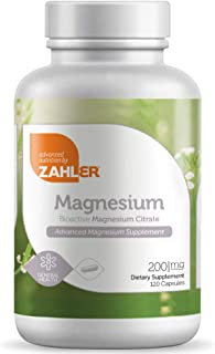 Zahler Magnesium Citrate, All Natural Supplement with Maximum Absorption, Helps Maintain Normal Muscle and Nerve Function,...