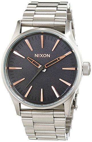 Nixon A4502064-00 - Reloj de Pulsera Mujer, Acero Inoxidable, Color Plateado