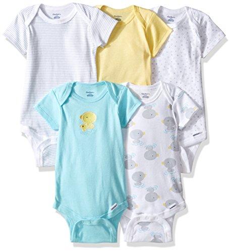 Gerber Baby Girls' 5-Pack Variety Onesies Bodysuits, New Duck, 3-6 Months