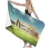 Toallas de playa Microfibra,Coliseo A Roma,Italia Toalla de playa ligera de gran tamaño perfecta para el hotel familiar, viajes, natación, fitness, deportes