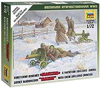 ズベズダ 1/72 第二次世界大戦 ソビエト マシンガンクルー 冬季服 プラモデル ZV6220