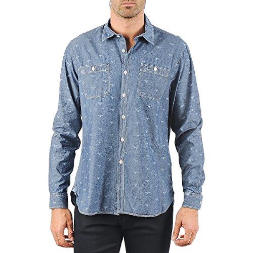 Barbour Lawson Hemden Herren Blau - S - Langärmelige Hemden
