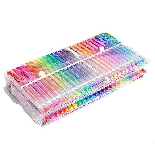 Juego de 100 bolígrafos de gel con purpurina, para colorear libros o garabatear