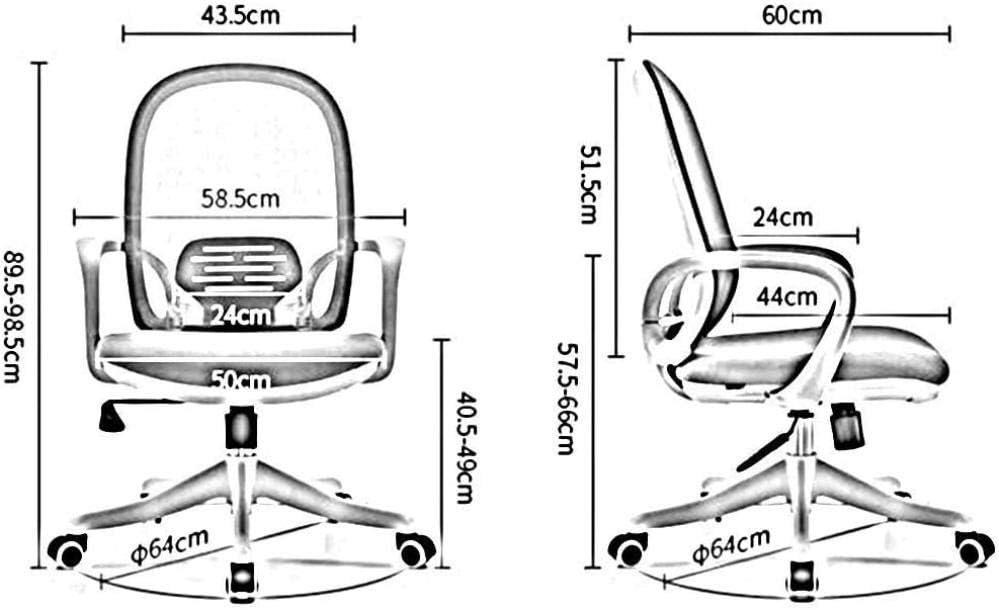Chaise De Bureau Chaise Pivotante en Maille Chaise D'Ordinateur Ergonomique Élégant Dossier Réglable en Hauteur Chaise De Bureau Durable Solide-Gris Bleu