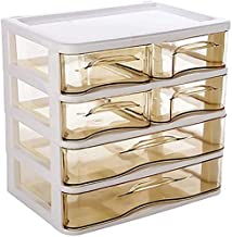Jewellery Organiser 4 Layers Desktop Makeup Organizer Drawers Plastic Cosmetic Box Jewelry Container Storage Case for Girl...