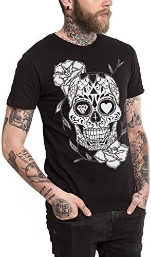 VIENTO Mexican Skull Camiseta para Hombre