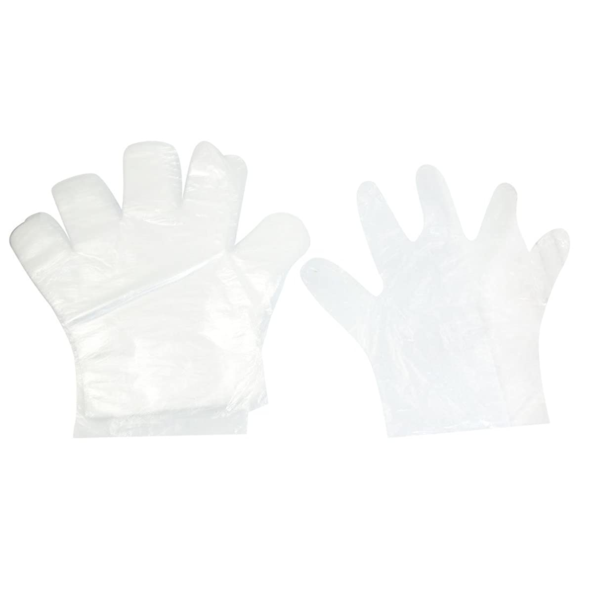 uxcell? Plastic Cooking Food Hand Protective Disposable Gloves 50Pcs Clear