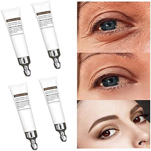 Crocodile Repair Eye Cream, Moisturizing Cream MagicAnti Wrinkle Eye Gel -Minimize Fine LinesReduces Puffiness, Dark CirclesEye BagsandCrow's Feet NightDayEye Cream-28 seconds removeeye bags (4pcs)
