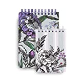 Vera Bradley Purple Floral Spiral Jotter Memo Pad Set with 1 Large Notepad and 1 Small Notepad, Lavender Meadow
