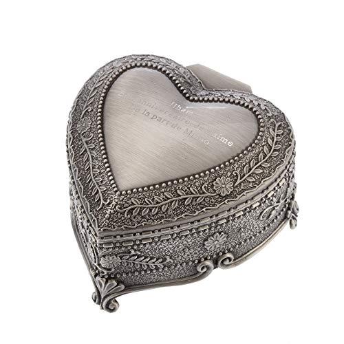 Joyero Caja del corazón del amor Joyería vintage de metal Artesanía Europa creativa Caja en forma de corazón Rosas Tipo de anillo Restauración Formas antiguas Collar Pulsera Organizador de almacenamie