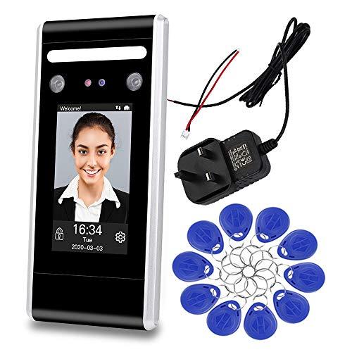 KDL Dynamic Facial Access Control Zeiterfassungsgerät Biometrische Infrarot-Gesichtskennworterkennung Zeituhr TCP/IP Netzwerk U-Disk-Download mit 125kHz/13,56MHz RFID-Schlüsselkarten (DT60-K)