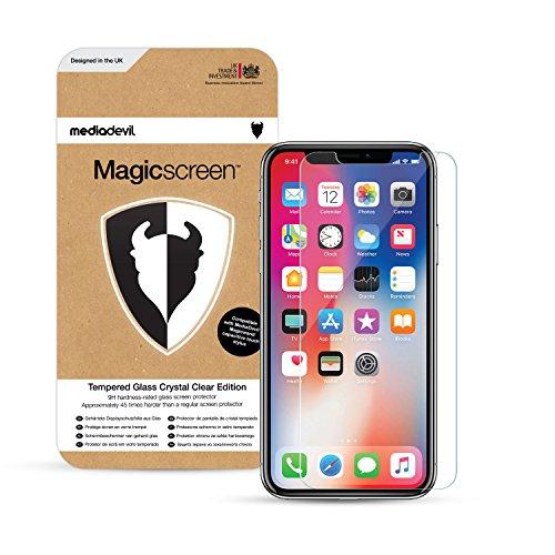 MediaDevil Pellicola Protettiva per iPhone 11 PRO e iPhone XS/iPhone X - in Vetro Temperato con Cornice di Posizionamento (2-Pezzi)