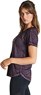 Rockwear Activewear Women's React Tee BlackBerry 14 from Size 4-18 for T-Shirt Tops