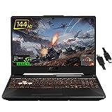 "2021 Flagship ASUS TUF A15 Gaming Laptop 15.6"" FHD IPS 144Hz AMD Hexa-Core Ryzen 5 4600H (Beats i7-9750H) 16GB RAM 512GB SSD GeForce GTX 1650 Ti 4GB RGB Backlit KB USB-C DTS Win10 + iCarp HDMI Cable"
