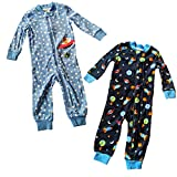 Little Me Baby 2 Pack Footies, Space Traveler, 3T