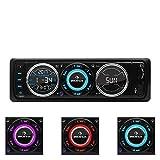 AUNA MD-180 autoradio USB SD MP3 RDS AUX (ingresso AUX USB SD, frontalino restraibile etroilluminato fino a 3 colori, telecomando, equalizzatore digitale) Nera