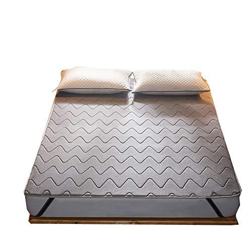 TW eenpersoonsmatras voor tweepersoonsbed van katoen, met afneembare overtrek, voor bed en bed