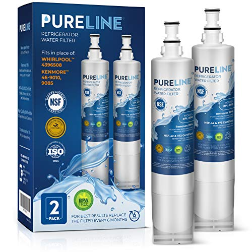 Pure Line Water Filter, Compatible with Whirlpool 4396510 W10186668 NLC240V, 4396510, WF285, 4392857 4396163 4396547 8212491 46-9010 46-9902 46-9908 models (2 Pack)