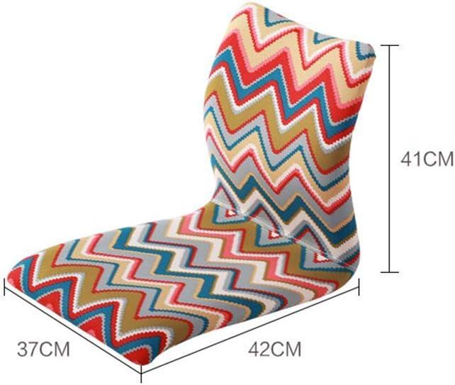 qazwsx Chaise de Sol Lavable Amovible, Paresseux Jeu de canapé de méditation, chaises de Sol, chaises de Jeu, pour Restaurant de Salon de Chambre à Coucher, Chaise de Dossier, A G