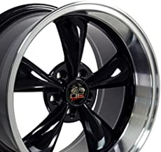 OE Wheels 17 Inch Fits Ford Mustang 1994-2004 Bullitt Style FR01 Black with Machined Lip 17x10.5 Rim Hollander 3448