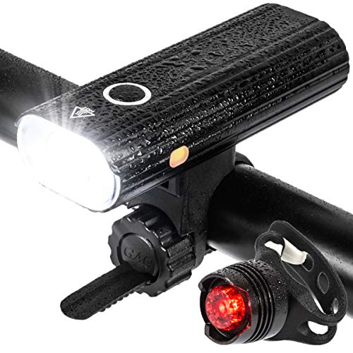 Luces Bicicleta, Luz LED para Bicicleta Trasera y Luz Delantera Recargable Bicicleta, Luz Ciclo Súper Brillantes 800 Lúmenes Para Adultos/Niños, Accesorios Seguridad Ciclismo de Carretera/Montaña