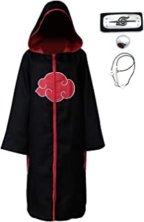Angelaicos Unisex Black Hoodie Robe Halloween Party Costume Cloak with Headband