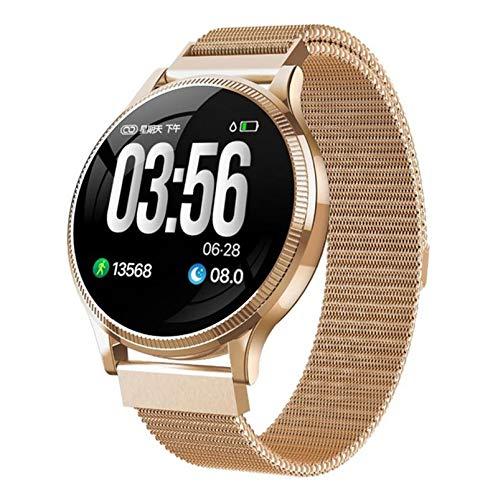 ZRY MK08 Waterproof Smart Watch Menición de la presión Arterial Medición de la Ritmo cardíaco Monitoreo de Seguimiento Deportivo Podómetro Deporte Whatch para Android iOS,A