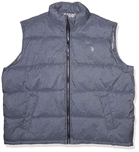 U.S. POLO ASSN. Herren Basic Vest Daunenweste, Klassisches Marineblau Heather, 2X