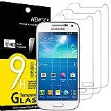 NEW'C Lot de 3, Verre Trempé Compatible avec Samsung Galaxy S4 Mini, Film Protection écran sans...