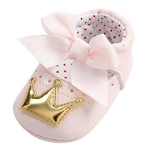 VECDY Zapatos Bebe Niña Verano, Moda Suave Zapatos 2019 Recién Nacido Bebé Niña Corona Princesa Zapatos Soft Suela Zapatillas Antideslizantes Zapatos De Princesa Zapato Primeros Pasos (Dorado,11)
