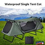 Big Times 1 Person Portable Folding Single Tent Cot Ground Camping Bed Waterproof Outdoor Equipment with Carry Bag