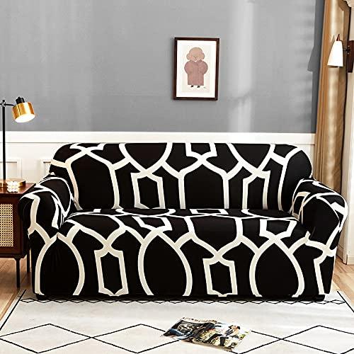 WXQY Stretch-Sofabezug mit Blumendruck Wohnzimmerecke L-förmiger Sessel All-Inclusive-Chaiselongue-Sofadecke A16 1-Sitzer