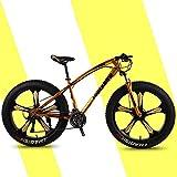 Bicicleta De Montaña, Freno De Doble Disco, Neumático Gordo 7-27 Velocidad 5 Rueda De Corte Bicicleta De Cambio De Nieve Marco De Acero De Alto Carbono,D,26 Inch 27 Speed