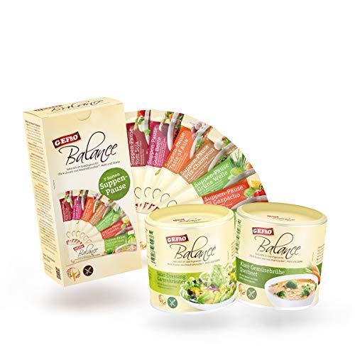 GEFRO Balance-Einsteiger-Set: Suppenpausen, Klare Gemüsebrühe und Salat-Dressing