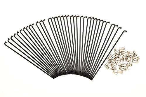 Kit 40 rayons et Nipples diamètre 3,0 mm longueur 225 mm noirs auto-réglable 90 °