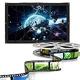 Schermo per proiettore da 200 pollici Schermo per proiezione di film portatile pieghevole HD 16: 9 Schermo di proiezione per montaggio a parete a discesa per home theater all'aperto per