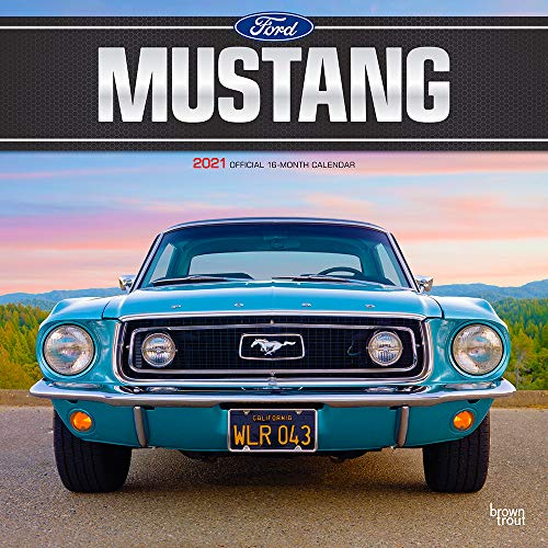 Ford Mustang 2021 12 x 12 Inch Monthly Square Wall Calendar with Foil Stamped Cover, Motor Muscle Car