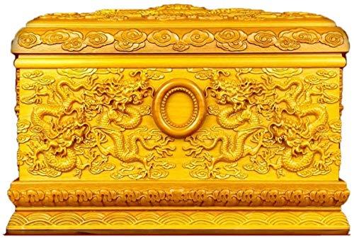 BBJOZ Decorative Urns Urns for Human Ashes, Adult Cremation Urns Keepsake jar, Soulmates Together Forever (Gold Wire Nanmu, 400 Cubic Inches)