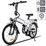 Aceshin 20' Folding Electric Bike 7 Speed E-Bike, 36V Lithium Battery 250W Motor Electric Bicycle for Adults