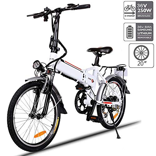 """Aceshin 20"""" Folding Electric Bike 7 Speed E-Bike, 36V Lithium Battery 250W Motor Electric Bicycle for Adults"""