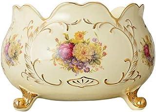 YUWANW, Piatto Rotondo con Motivo Floreale e Farfalle, per